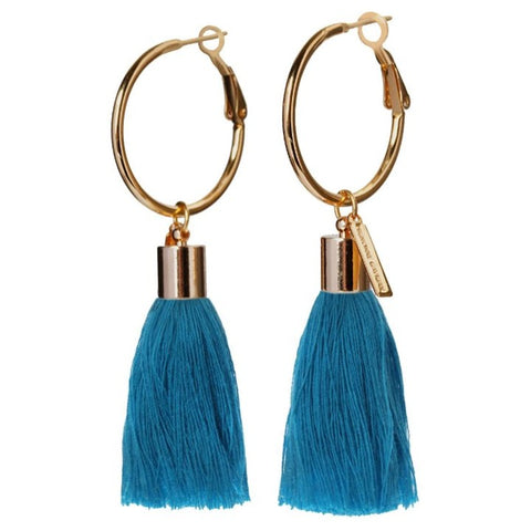 Mignonne Gavigan Lily Tassel Hoop Earrings