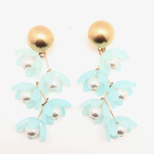 Shiver and Duke Liza Earrings in Aqua