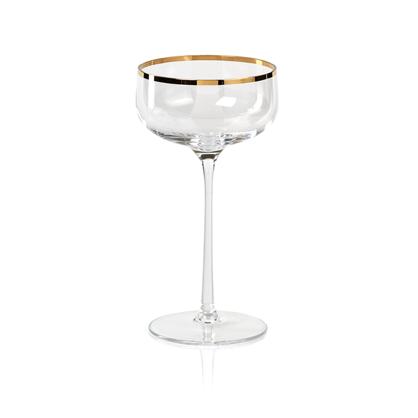 Gold Rim Champagne Coupe