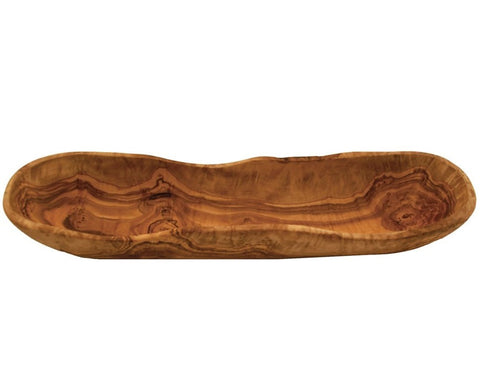 Olive Wood Long Oval Dish