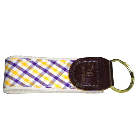 Olly Oxen Purple and Gold Key Fob