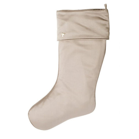 Fig & Dove Light Gray Stocking with Cuff