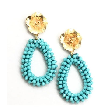 Shiver and Duke Luna Flower Earrings