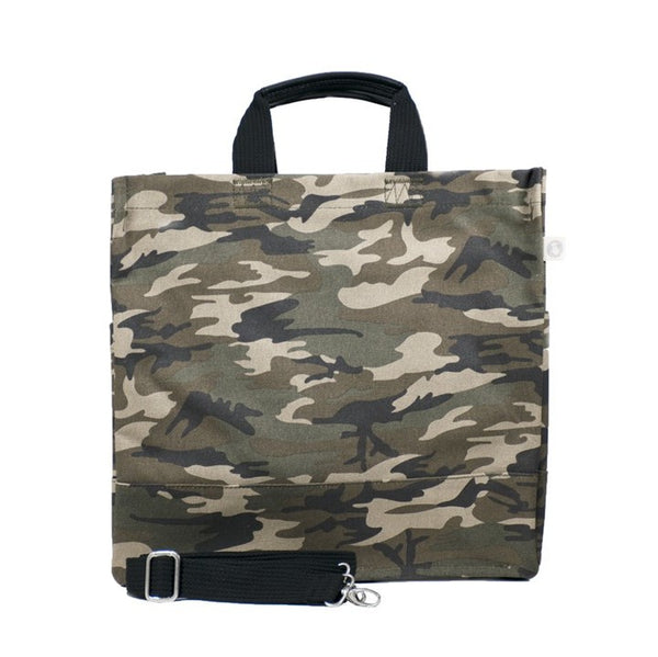 Luxe North-South Bag in Gray Camo