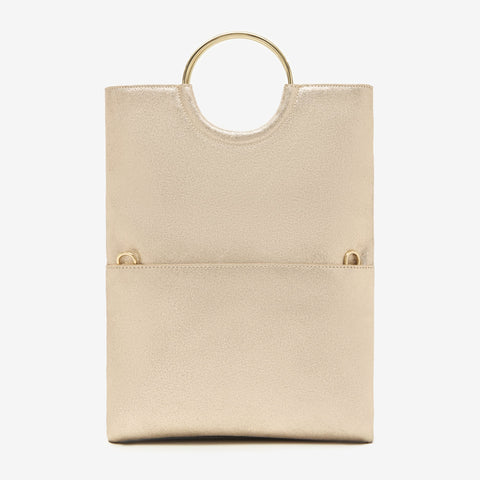 Mabel Foldover Bag in Vintage Gold