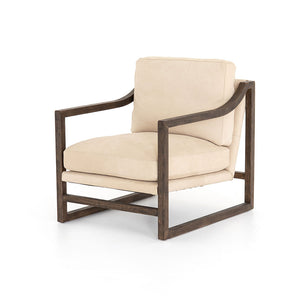 Slope Arm Leather Chair
