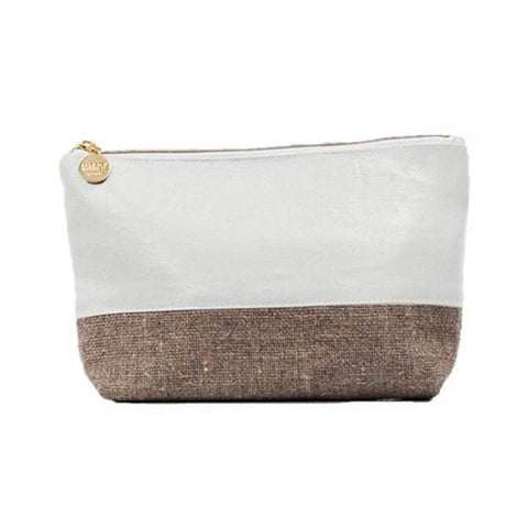 Christen Maxwell Malta Burlap Mini Cosmetic