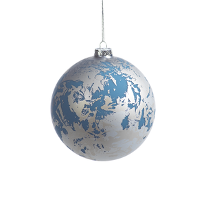 Blue & Silver Metallic Ornament