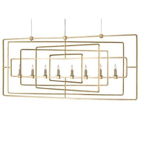 Currey and Co. Metro Rectangle Chandelier