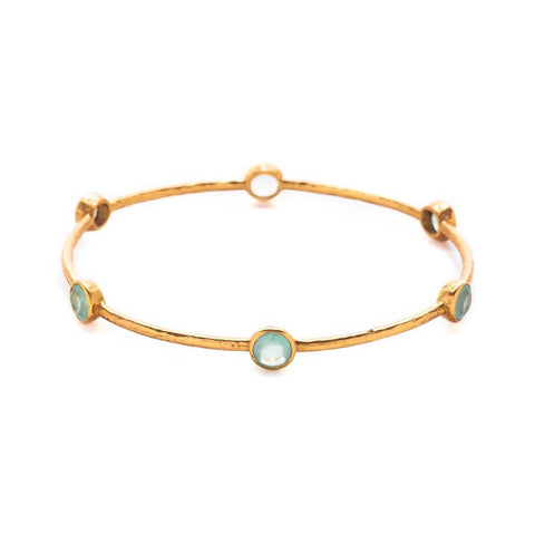 Julie Vos Milano Bangle in Aquamarine Chalcedony
