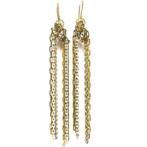 CV Designs Knotted Tassel Earrings