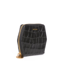 Load image into Gallery viewer, Mika Leather Wallet in Black Croc