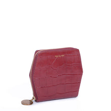 Load image into Gallery viewer, Mika Leather Wallet in Cherry Croc