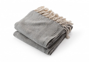 Slate Grey Monhegan Throw