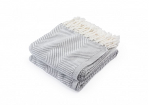 White & Dove Grey Monhegan Throw