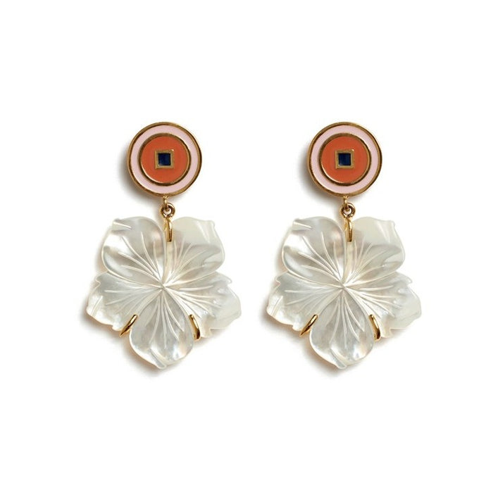 Lizzie Fortunato Monte Carlo Flower Earrings