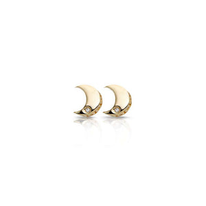 S. Carter Designs 14K Moon Stud Earrings
