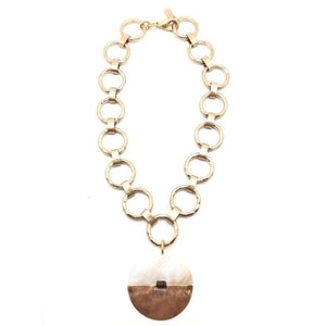 Shiver and Duke Pearl Pendant Necklace
