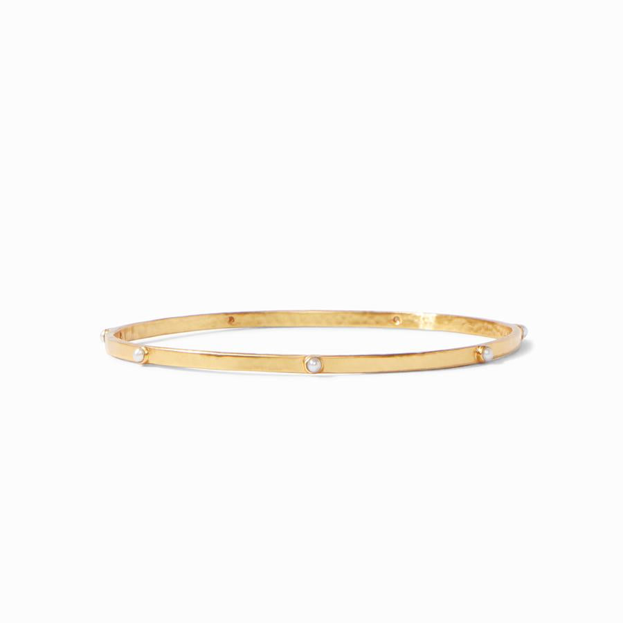Julie Vos Crescent Bangle with Mother of Pearl