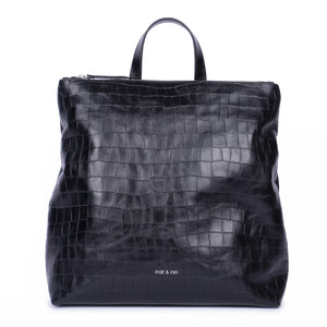 Naomi Bag in Black Croc