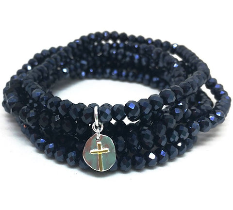 Erin Gray Design Navy 7-Stack Bracelet