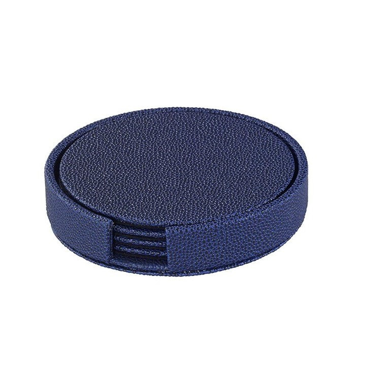 Skate Boxed Coaster Set in Navy