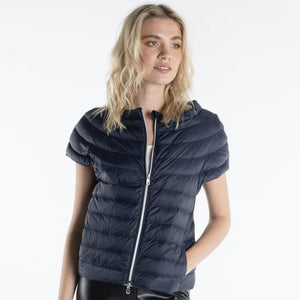 Navy Short Sleeve Down Jacket