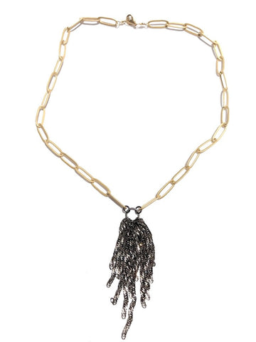CV Design Links Tassel Necklace