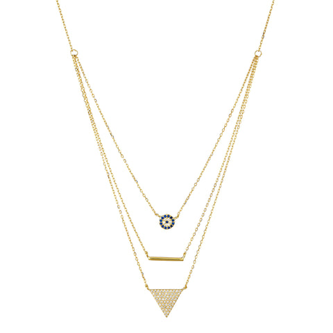 Elyssa Bass Designs Layered Three-Strand Necklace