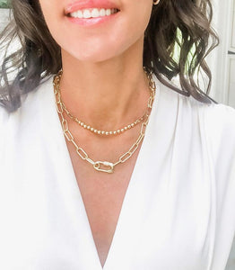 Shiver and Duke Safety Pin Layering Necklace