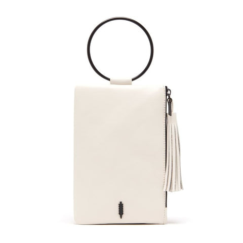Nolita Clutch in White and Black
