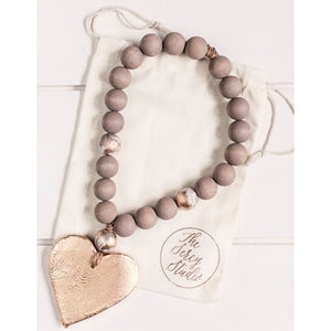 The Sercy Studio Norah Cross/Heart Blessing Beads