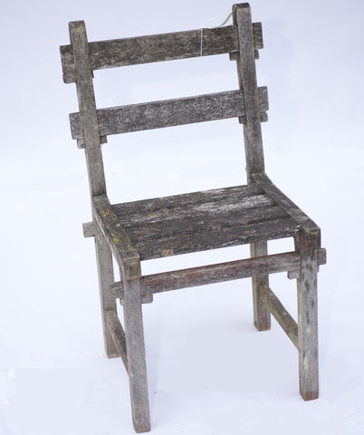 Weathered Oak Outdoor Side Chair