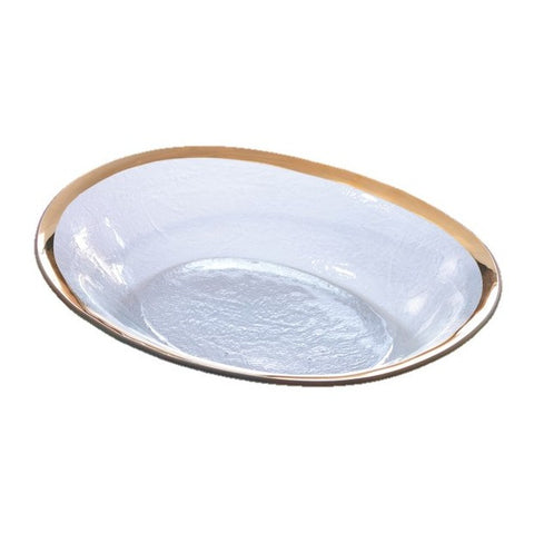 Annieglass Large Oval Serving Bowl