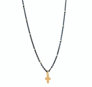 Erin Gray Design Oxford Oxi Tiny Cross Necklace