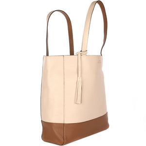 Loxwood Two-Tone Paname Bag in Cream