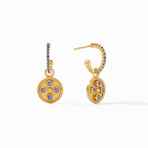 Julie Vos Paris Hoop and Charm Earrings