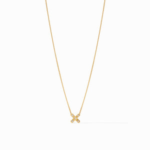 Julie Vos Paris X Delicate Necklace in CZ