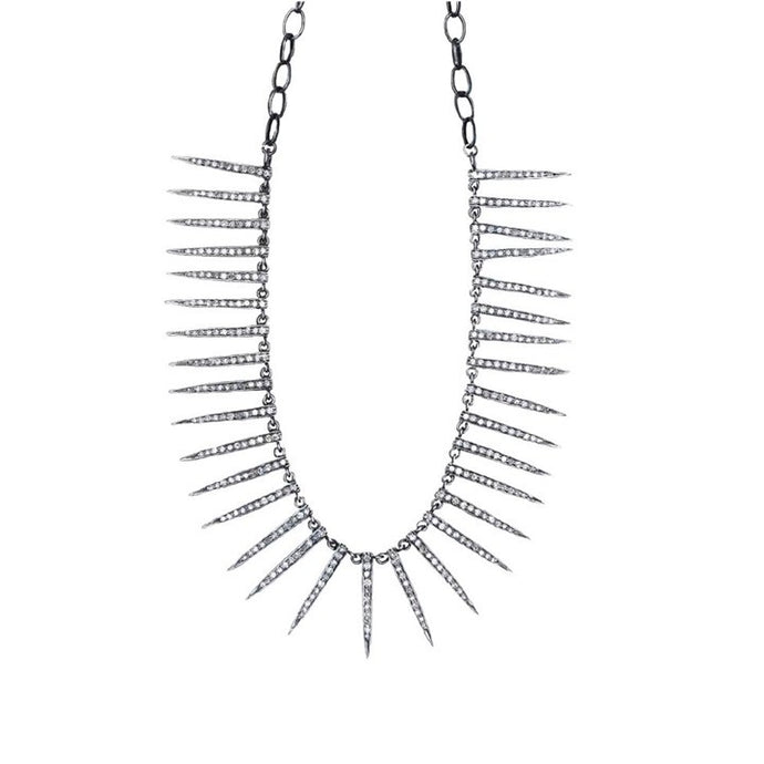 S. Carter Designs Diamond Needle Necklace