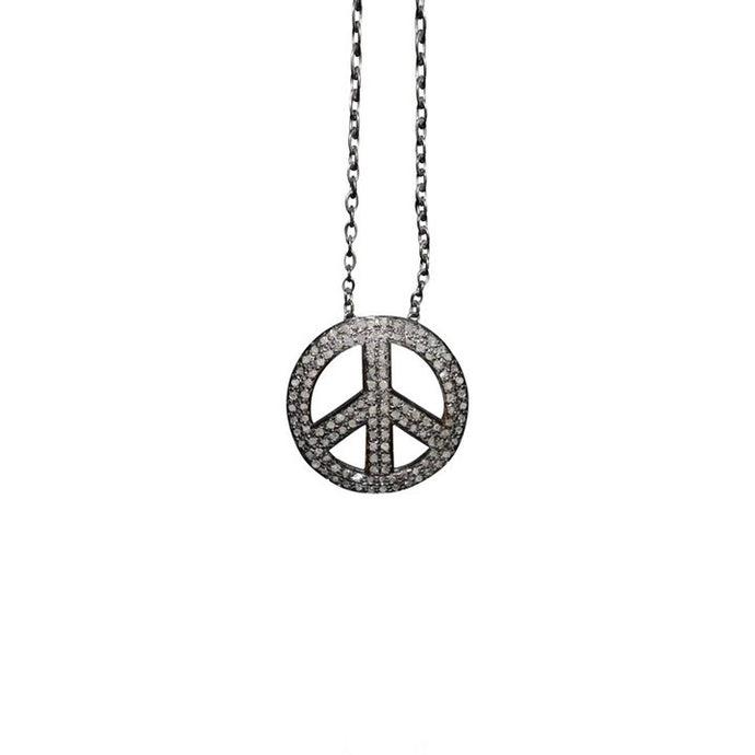 S. Carter Designs Peace Sign Charm Necklace