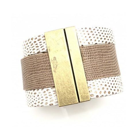 Shiver and Duke Peyton 3 Strand Cuff