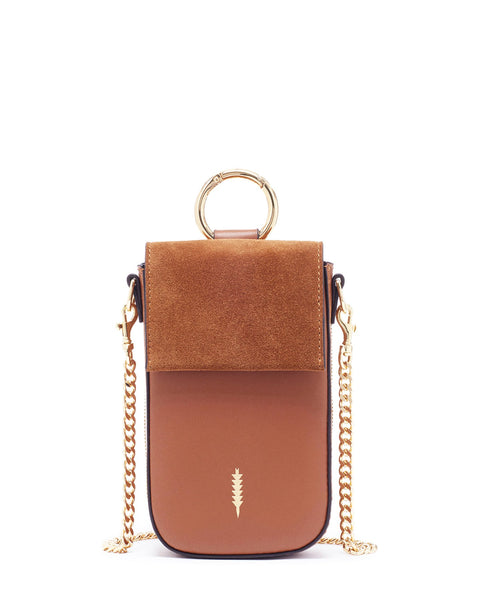 Farrow Phone Crossbody Bag in Cognac