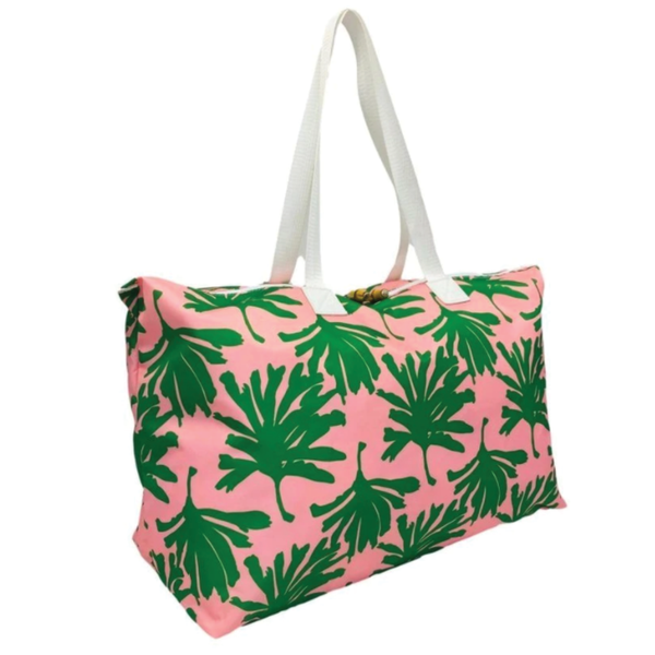 Pink Palm Tote