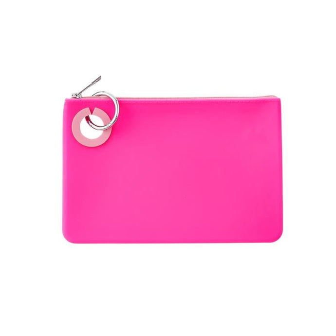 Large Silicone Pouch - Tickled Pink
