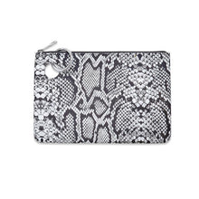 Load image into Gallery viewer, Large Silicone Pouch - Tuxedo Snakeskin