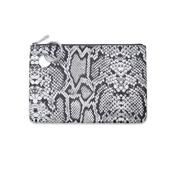Large Silicone Pouch - Tuxedo Snakeskin