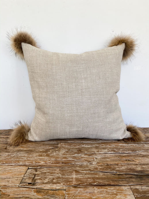 Roxy Natural Linen Pillow