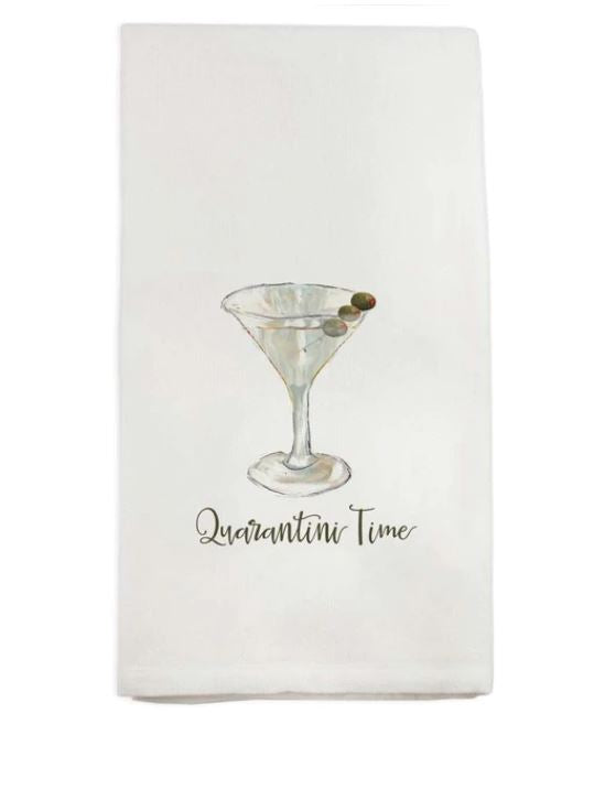 Quarantini Time Dish Towel