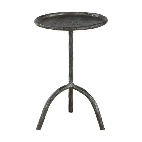 Round Cast Iron Accent Table