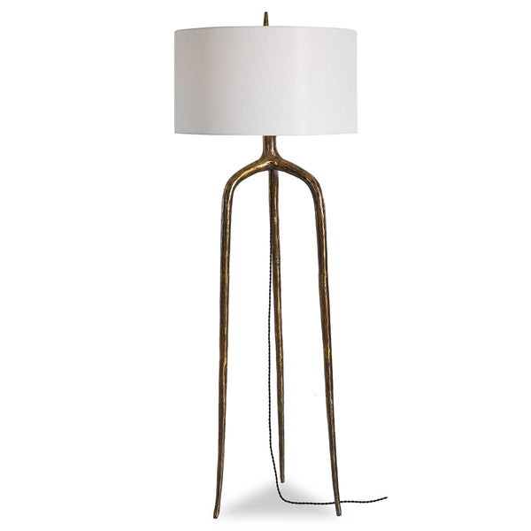 Brass Wish Bone Floor Lamp